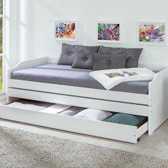 Kajuitbed Lothar 90x200cm 3 slaapplaatsen - white wash