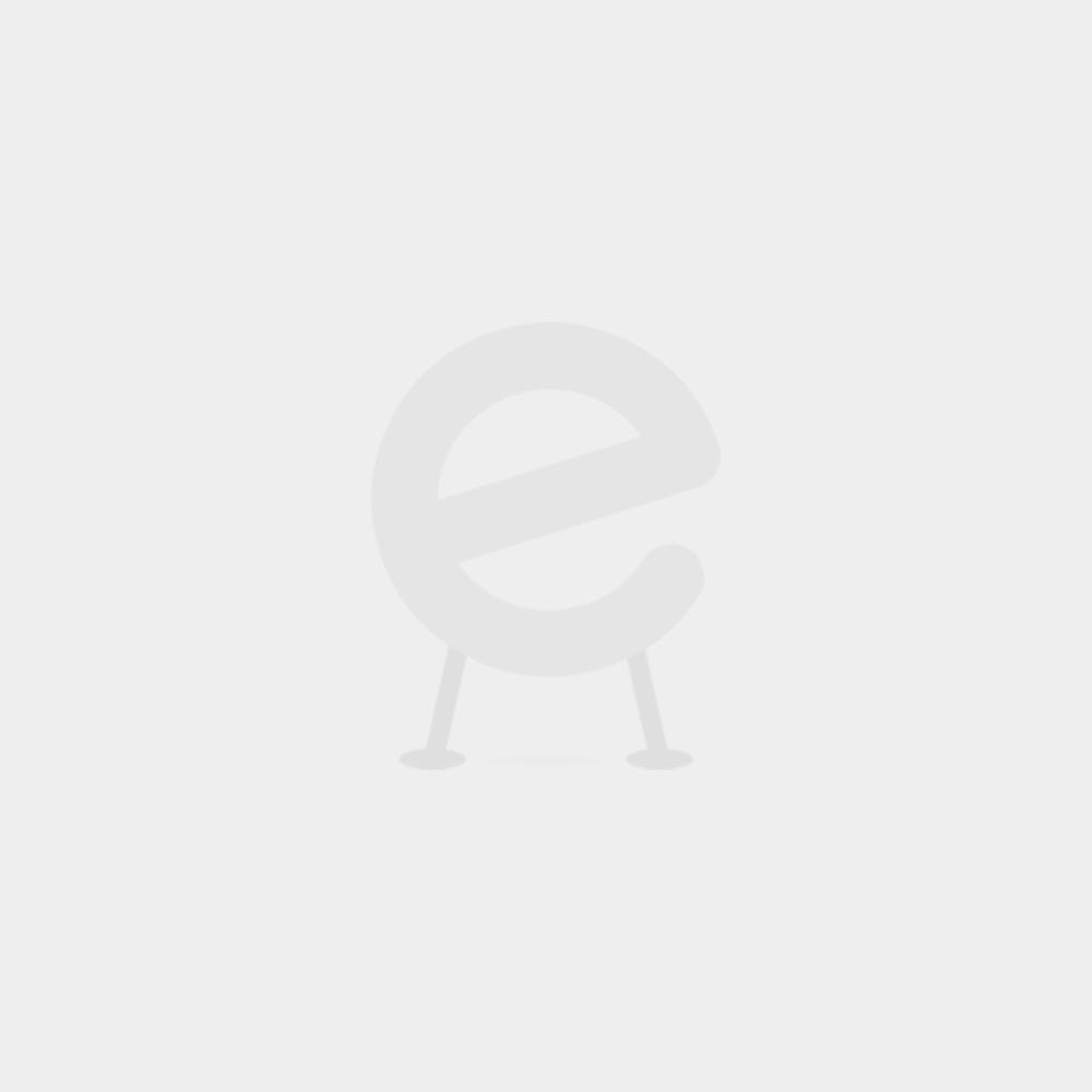 Wandkapstok Rex 3 met zwarte hoedenplank - nikkel
