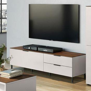 Tv-meubel Karsten 164cm - kasjmier/walnoot