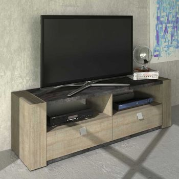 Tv-meubel Iris - grijze eik