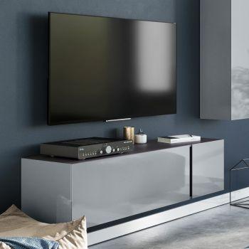 Tv-meubel Mussa 140cm - grafiet/zilvergrijs