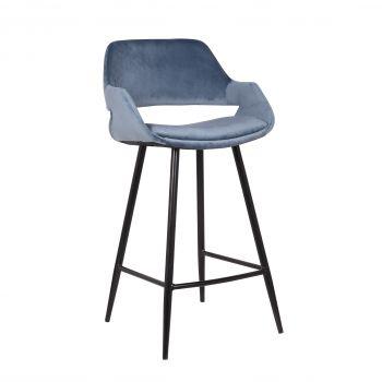 Set van 2 barstoelen Erika - zithoogte 75 cm - blauw
