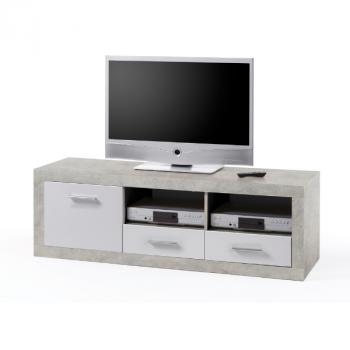 Tv-meubel Brekalo 147cm - Beton/wit
