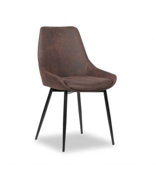 Set van 2 stoelen Mirano - bruin