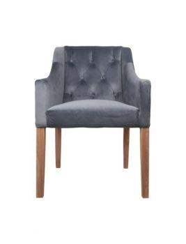 Armstoel Jersey - velours grijs