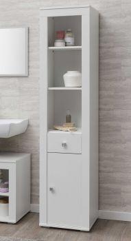 Kolomkast Rutger 1 lade & 1 deur - wit