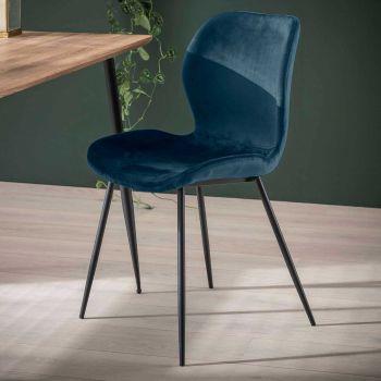 Set van 4 stoelen Vince - blauw