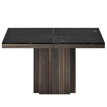 Eettafel Dusk 130x130 - zwart marmer