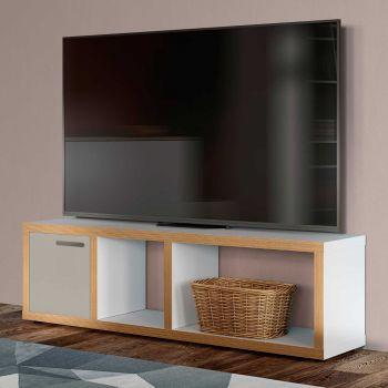 Tv-meubel Berkeley 150cm - wit/multiplex