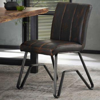 Set van 2 stoelen Bridge - bruin
