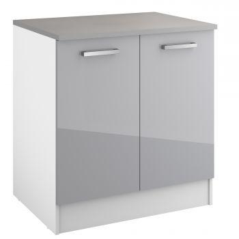 Onderkast Eli 80 cm met 2 deuren - grijs