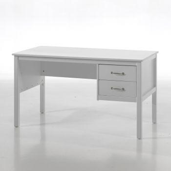 Bureau Stella wit, landelijke stijl - met 2 laden