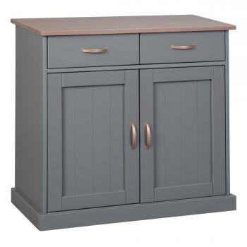 Commode Cerci 90cm met 2 deuren & 2 lades - grijs