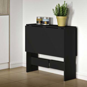 Eettafel Papillon 103 cm - zwart