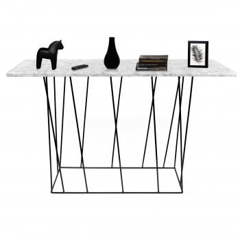 Sidetable Helix 120cm - wit marmer