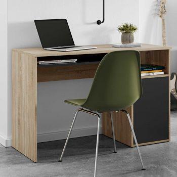 Bureau Martin 115cm - eik/zwart