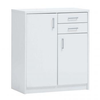 Commode Spacio 84cm 2 deuren/2 laden - wit