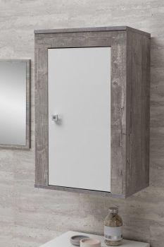Hangkast Rutger - wit/beton
