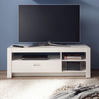 Tv-meubel Arkea 135 cm met 1 lade - wit