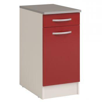 Onderkast Eko 40x60 cm met lade en deur - rood