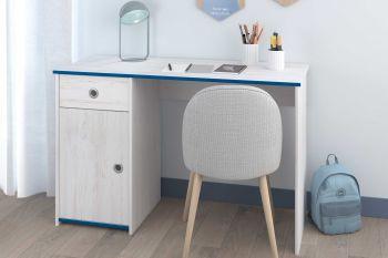 Bureau Smoozy 121cm - wit/roze of blauw