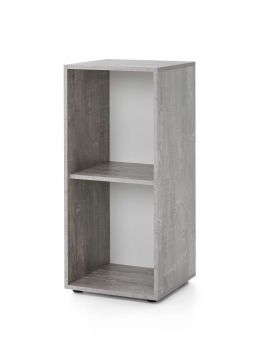 Rek Maxi-office smal - beton/wit