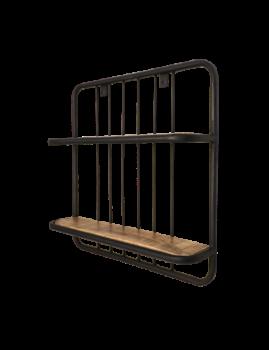 Wandplank Eran 50x50cm - mangohout/ijzer