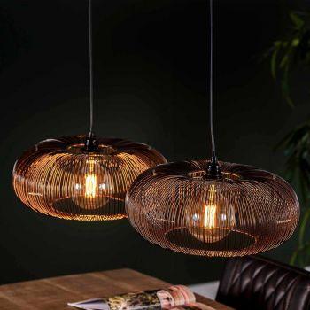 Hanglamp Chisa 2x Ø43 - zwart nikkel