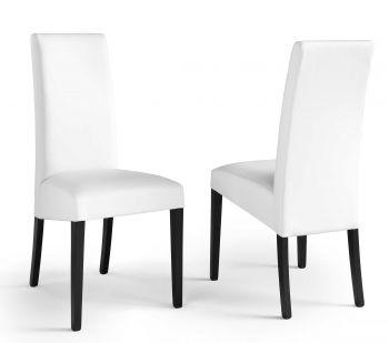 Set van 2 stoelen Roko - wit/zwart