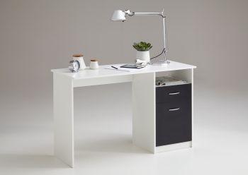 Bureau Jady 123cm - wit/zwart