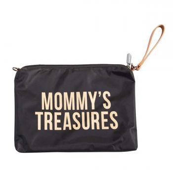 Mommy clutch - zwart/goud