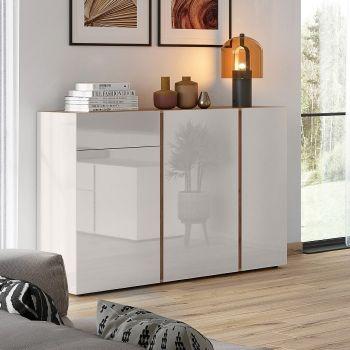 Dressoir Mussa 3 deuren & 1 lade 152cm - eik/kasjmier