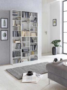 Boekenkast Floris 27 vakken - wit