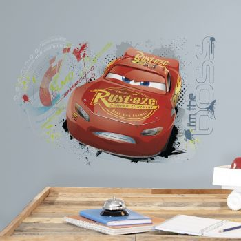 Muursticker Cars 3 Lightning McQueen