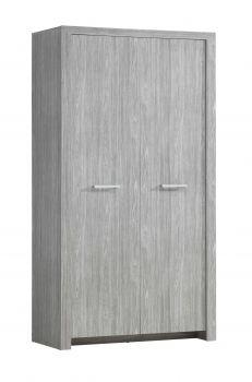 Kledingkast Heaven 112cm met 2 deuren - grijs