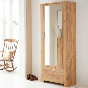 Garderobekast Castor 74cm met 2 deuren - eik