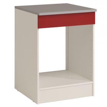 Onderkast Eko 60 cm voor oven en kookplaat - rood