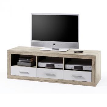Tv-meubel Brekalo 147cm - san remo eik/wit