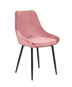 Set van 2 fluwelen stoelen Mirano - roze