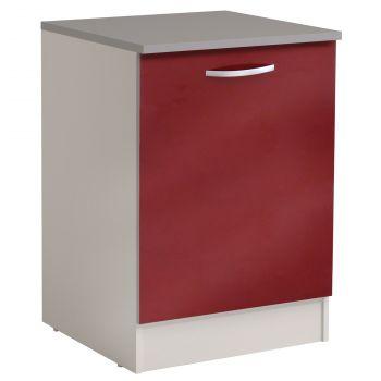 Onderkast Spoon 60 cm met deur - glossy red