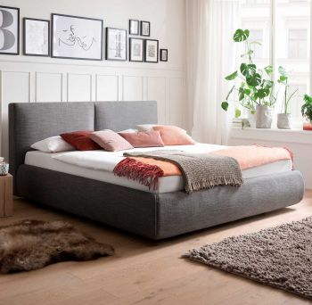 Bed met opbergruimte Celine 180x200 - antraciet (incl. Rimini matras H2)