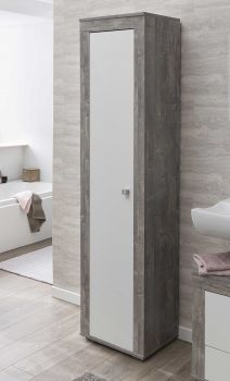 Kolomkast Rutger 1 deur - wit/beton