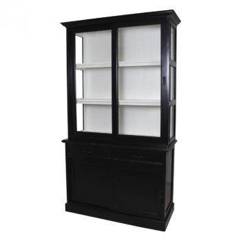 Buffetkast Vicenza met 4 deuren & 2 lades - zwart/wit