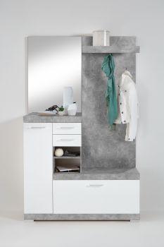 Vestiaire Cristal - beton/hoogglans wit