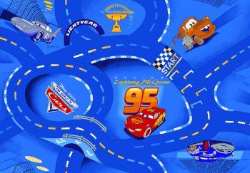 Tapijt Cars - World of Cars blue