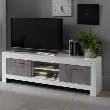 Tv-meubel Modena 160 cm - wit/beton