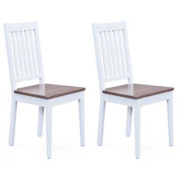 Set van 2 stoelen Westerland - wit/bruin