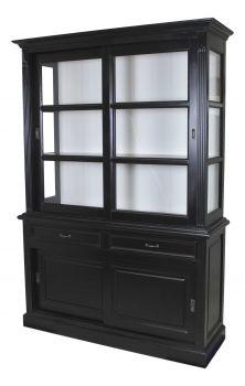 Buffetkast Provence 150cm 4 deuren & 2 lades - zwart/wit