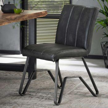 Set van 2 stoelen Bridge - antraciet