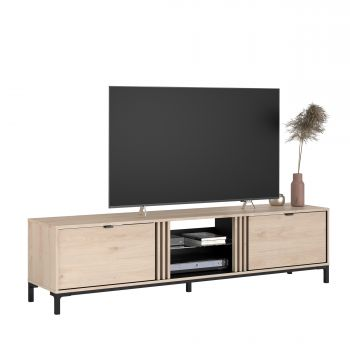 Tv-meubel Iseka 180cm met 2 lades - eik